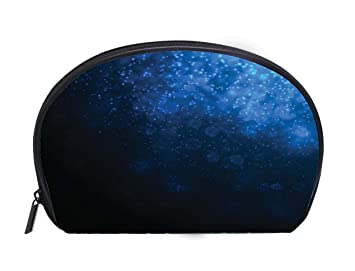 Amazon Com Portable Toiletry Cosmetic Bag Deep Blue