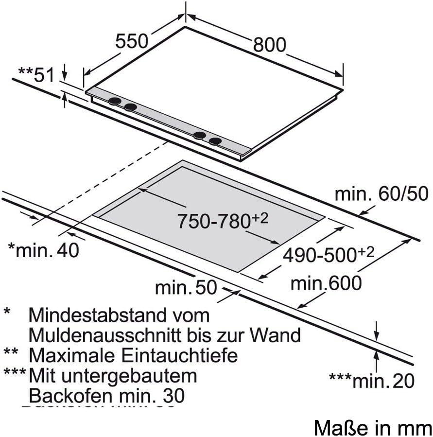 Kindersicherung Induktion Breite Siemens EH885DC11E iQ300 Elektro-Kochfeld 80 cm Induktion