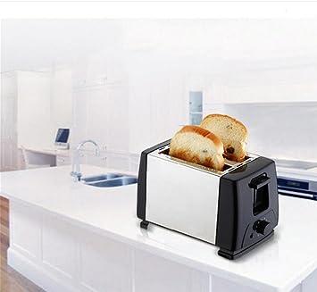 LVRXJP6 Panificadoras tostadora Elegante casa de Acero Inoxidable multifunción Antiadherente Apagado automático máquina de Tostado Ahorro