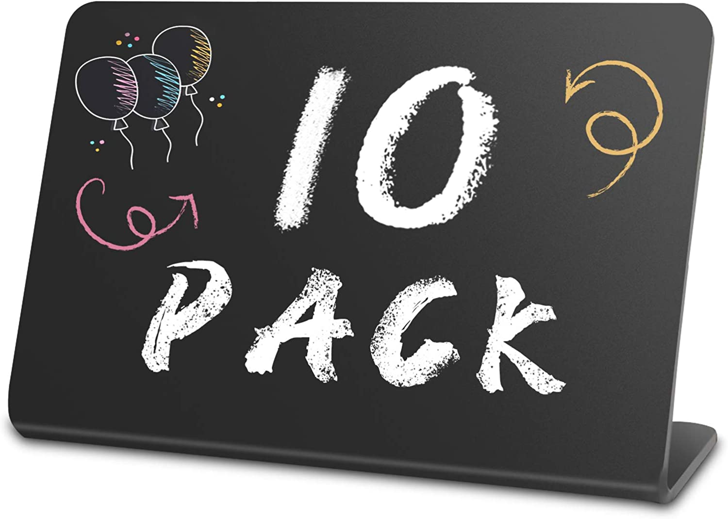 Mini Chalkboard Signs, Acrylic Mini Chalkboard Signs for Food, Small Message Board Signs for Party Buffet Table, Chalkboard Food Labels for Liquid Chalk Markers and Normal Chalks (3 x 4 Inch, 10 Pack)