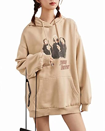 Redshop Women Autumn Causal Long Sleeve Hoodie Sweatshirt Letters Hooded Pullover Tops Blouse