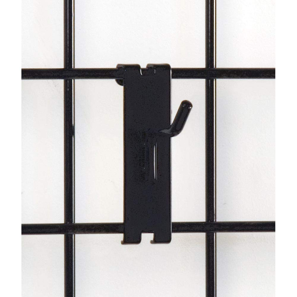 2'' Gridwall Hooks For Grid Panel Display - 50 Pcs Box - 1/4'' Dia Wire - Standard Duty - Black Color