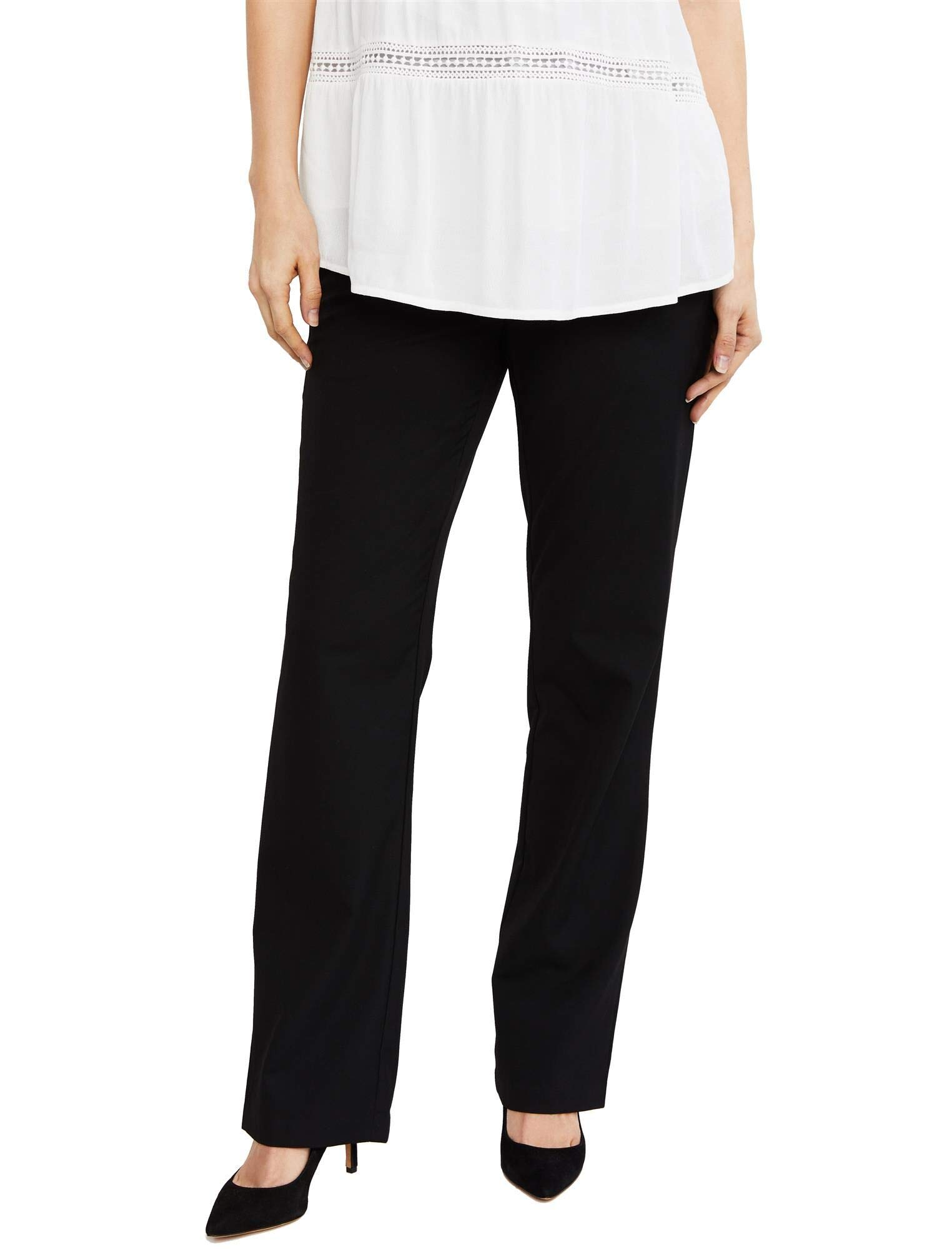 A Pea in the Pod Secret Fit Belly Straight Leg Maternity Suiting Pants Black by A Pea in the Pod