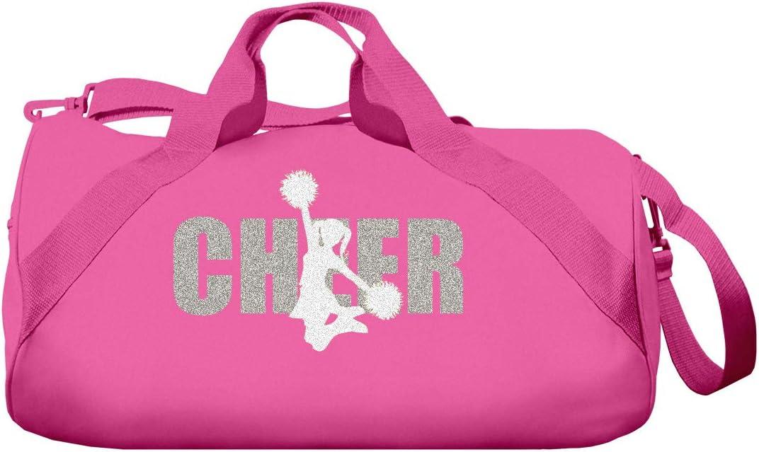 Totesntogs Cheer Duffel Bag with Glitter Cheerleader