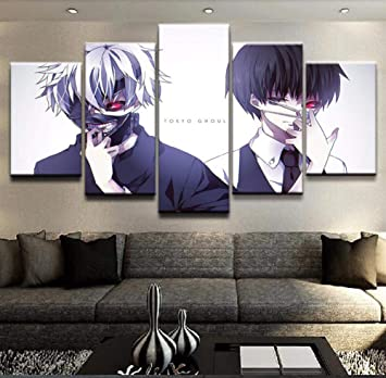 XLST HD Imprimir Lienzo Pintura Al Óleo 5 Piezas Anime Tokyo Ghoul ...