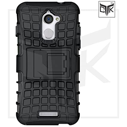 newest 5567c 8acb6 TheGiftKart Coolpad Note 5 Lite Tough Dual-Layer Kickstand Armor Back Cover