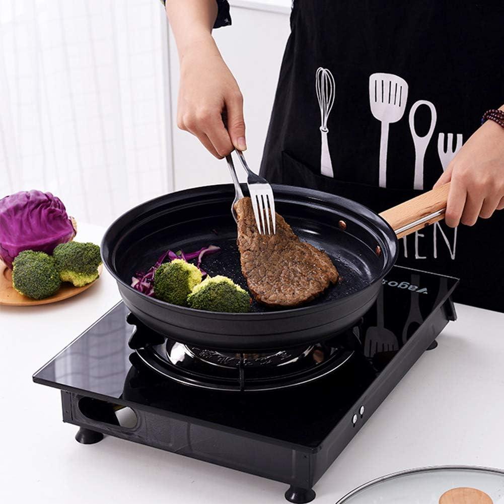 Poêle à frire antiadhésive à induction Revêtement Nano Céramique Moins de fumée d'huile Casserole multicouche Omelette Poêlée À Bifteck, 11 pouces,Black Black
