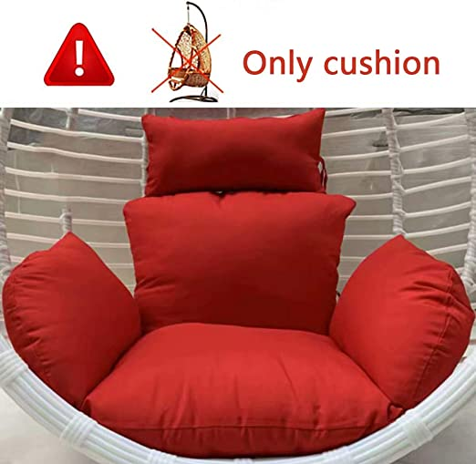 Patio Chairs Swings Benches Home Garden Hanging Egg Chair Cushion Sofa Swing Chair Padded Thick Seat Cushion W Pillow Adrp Fournitures Fr