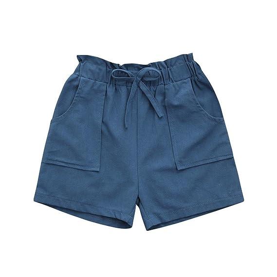 Playa Niños Barato, Zolimx Bebe de Verano 2018 Niñas Niños Bowknot Sólidos Playa Pantalones Cortos
