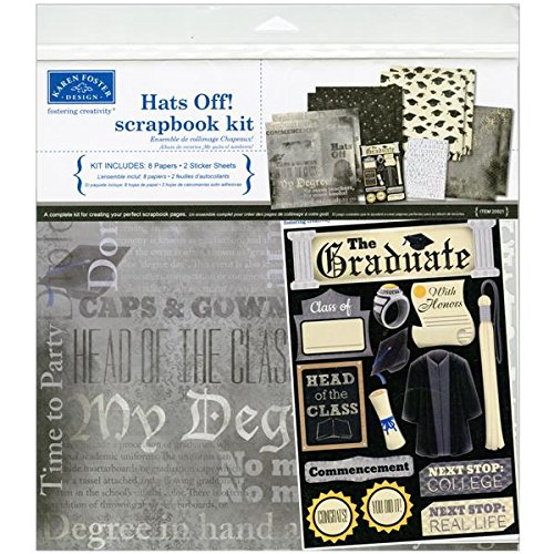 Karen Foster 20521 Design Themed Paper and Stickers Scrapbook Kit, Graduation