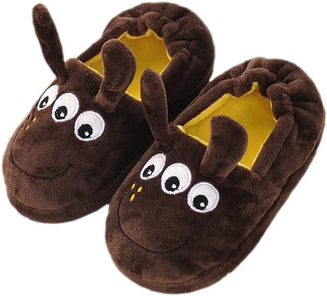 Boys Girls Childrens Animal Novelty Ankle Boot Slipper Kids Bootie Slippers New