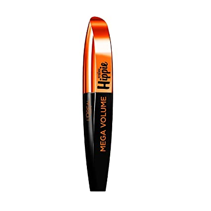 LOreal Paris Máscara de Pestañas Mega Volumen Miss Hippie 001 Black