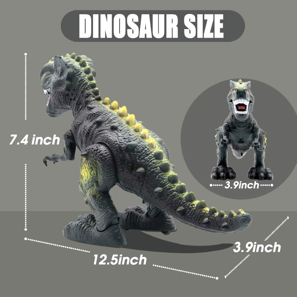 CISAY Dinosaur Toys,D33 Electronic Real Walking Dinosaurs with LED Lights and Dinosaur Sounds by CISAY (Image #5)