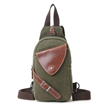 9354f3c08719 Amazon.com: Sling Backpack Men's Chest Bag Simple Casual Chest Bag ...