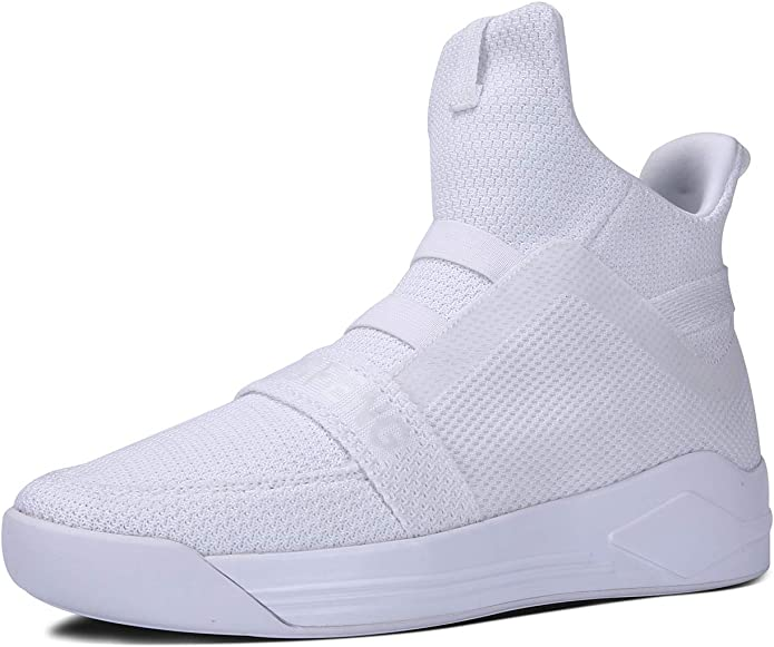 Soulsfeng Mens Casual High Top Sneakers Breathable Mesh Knit Ankle Boots Athletic Shoes