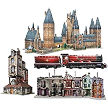 Complete Set of All 5 Harry Potter 3D Jigsaw Puzzles Made by Wrebbit Puzz-3D