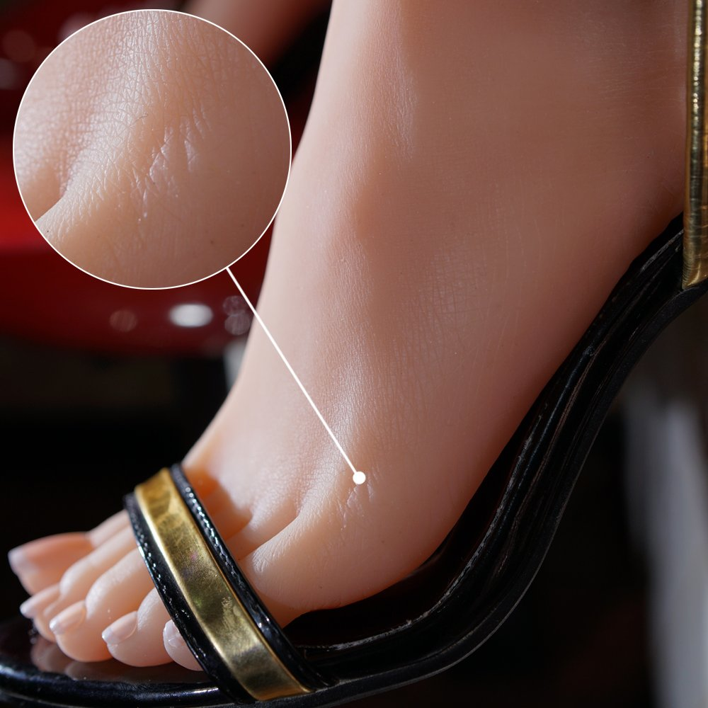 1 Pair Silicone Life Size Female Mannequin Foot with Knee Display Fetish Jewerly Sandal Shoe Sock by Sunny Rain (Image #4)