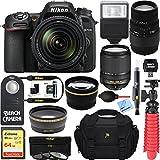 Nikon D7500 Black Digital SLR Camera with 18-140mm VR & 70-300mm f/4-5.6 SLD DG Macro Telephoto Lens + Accessory Bundle