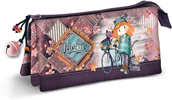 Forever Ninette Bicycle-Estuche Portatodo Triple HS: Amazon.es: Equipaje