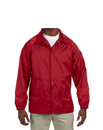 cf17b8ddf00 Amazon.com  Cardinal Light Flannel Lined Nylon Coaches Jacket ...