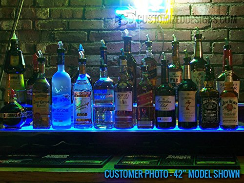 84'' 2 Step Commercial Grade LED Lighted Bottle Display - Remote Control LED Lighting by Customized Designs (Image #7)
