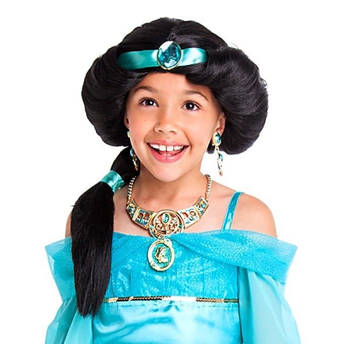 Tienda de Disney Princess Jasmine disfraz peluca ~ Niñas: Amazon.es: Ropa y accesorios
