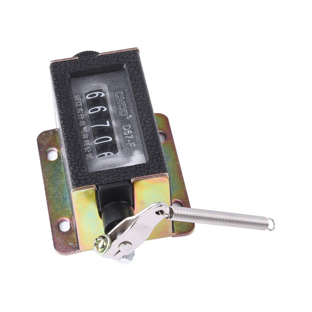 0-99999 D67-F Mini Compteur M/écanique Manuel Comptage 5 Chiffres Arithmom/ètre