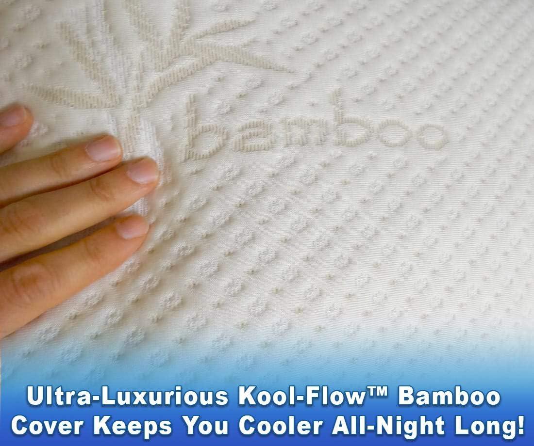 Heavenly Memory Foam Pillow Adjustable Fit Luxury Feel Kool-Flow Micro Vented Ba
