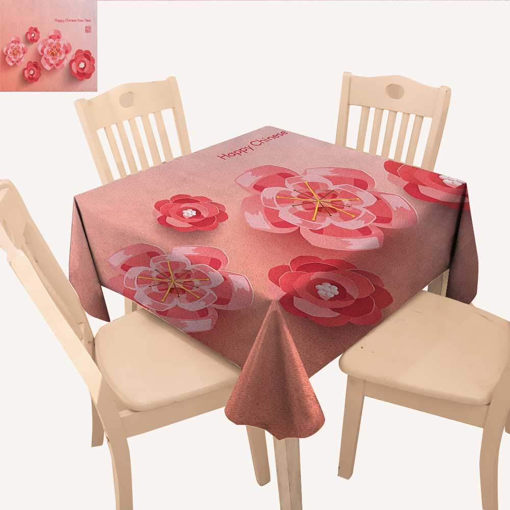 longbuyer チキンアウトドアピクニックマザーヘンチックスファームアニマル農業ファミリーテーマ小型テーブルクロスダークコーラルペールオレンジイエロー W 36
