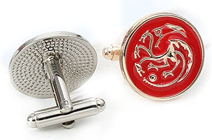 Gemelos con diseño de Juego de tronos y caja de presentación, Targaryen Red, Talla única: Amazon.es: Ropa y accesorios