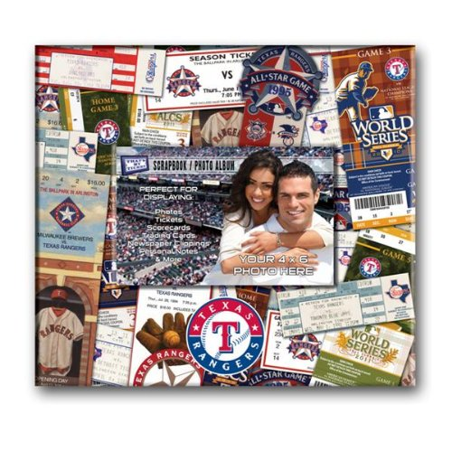 MLB Texas Rangers 8x8 Scrapbook Photo Album
