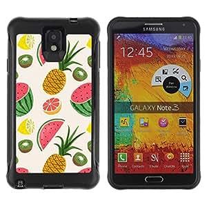 "Pulsar iFace Series Tpu silicona Carcasa Funda Case para SAMSUNG Galaxy Note 3 III / N9000 / N9005 , Piña Fruit Dibujo Pintado"""