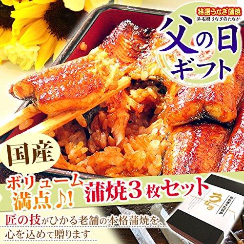 ギフトうなぎグルメギフト国産鰻(うなぎ)蒲焼3枚セット
