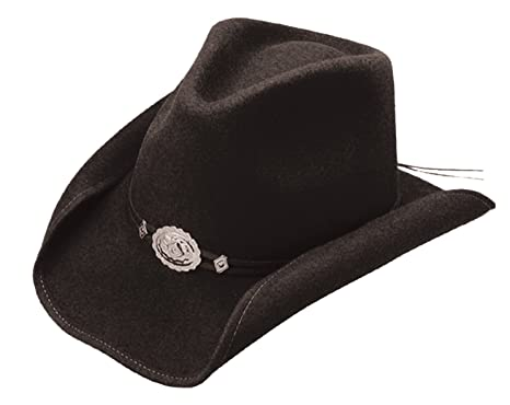 fc409553068 Stetson Mens Hollywood Wool Crushable Water Repellent Black Outdoor ...