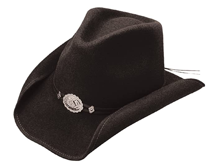 b759ba2e9 Stetson Mens Hollywood Wool Crushable Water Repellent Black Outdoor Felt  Fashion Collection Cowboy Hat