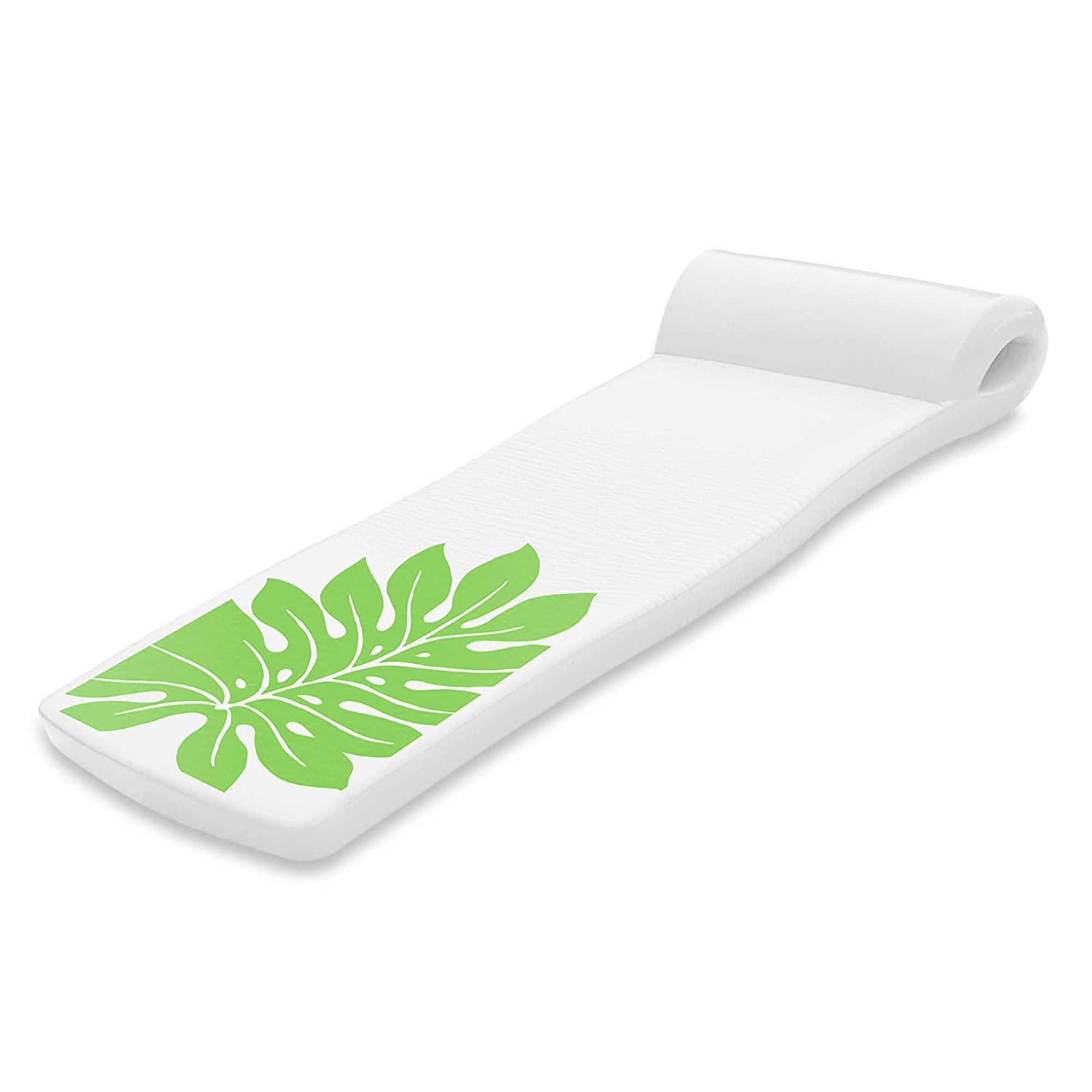 Super Soft Ultra Sunsation Pool Float in White with Green Leaf by Super Soft