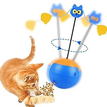 Sundaymot Juguete Interactivo para Gatos, 3 en 1, multifunción, Giratorio automático, Vaso