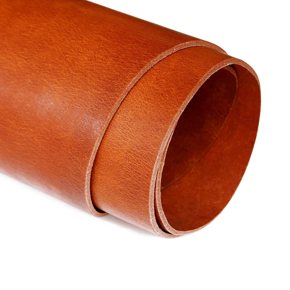 Vegetable Tanned Cowhide Genuine Leather Craft Sheath/Belt DIY Material 4mm Thickness (Brown, 12 sq.ft)
