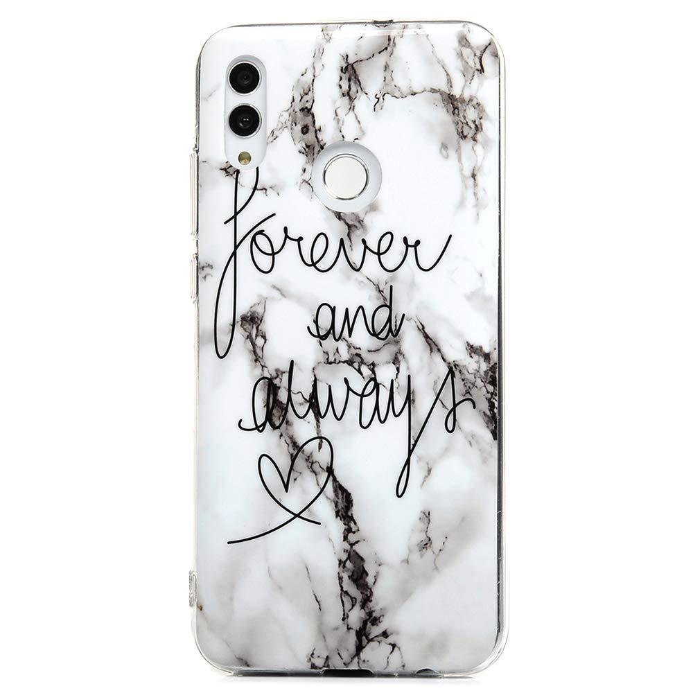 VoguSaNa Honor 10 lite Handyh/ülle Huawei P Smart 2019 H/ülle Silikon Case Cover Marmor Tasche D/ünn Schutzh/ülle Handytasche Malen Muster Skin Softcase Schale Bumper*3 Handycover M/ädchen Etui Fall-Set3