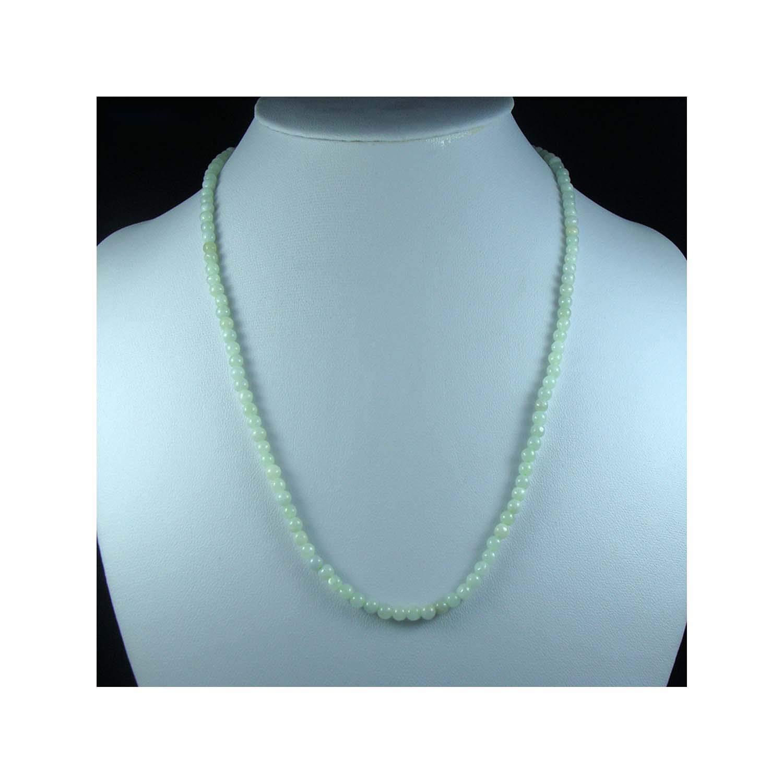 Promising-development A Grade Burmese Jadeite Myanmar Emerald Jade Lucky Necklaces Bead 4mm126Pcs Wonderful Birthday Gifts