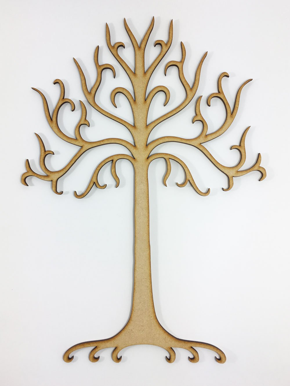 Lotr lord of the rings white tree of gondor wall art stickers large laser cut tree of gondor lord of the rings inspired shape mdf craft amipublicfo Choice Image