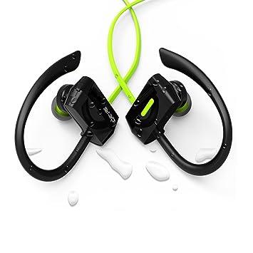 Auriculares Bluetooth de iClever. Auriculares a Prueba de Sudor, Auriculares inalámbricos Bluetooth para Correr, Hacer Ejercicio, Entrenar, IR al Gimnasio o ...