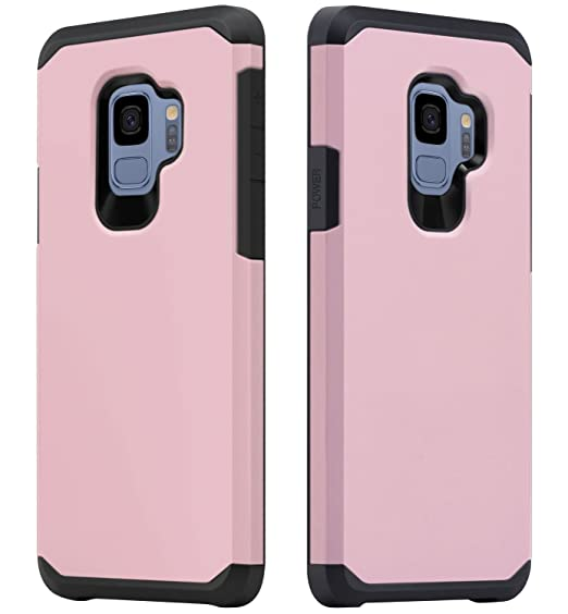 Amazon.com: Galaxy S9 Case for Girls Women, OEAGO Shockproof Heavy Duty Protection Dual Layer Armor Case Cover for Samsung Galaxy S9 S 9 (2018) (Rose Gold): ...
