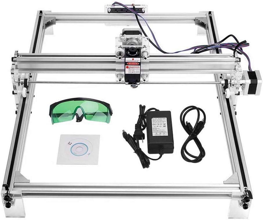 TOPQSC Kit de Máquina de Grabado Láser CNC 3040, Impresora de Escritorio DIY Impresora de Marcado de Imagen, Máquina de Corte de Grabado de Madera USB de 12 V, Area de Grabado: 30x40 cm (7000MW)