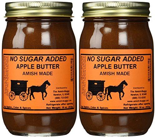 No Sugar Added Apple Butter - Two-16 Oz Jar
