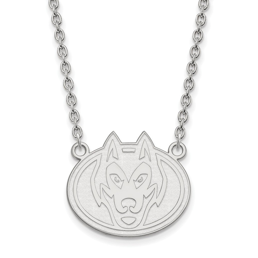 Mia Diamonds 925 Sterling Silver LogoArt St Cloud State Large Pendant with Necklace