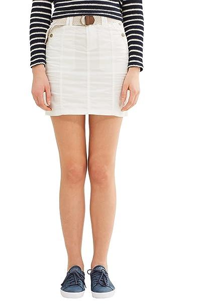 edc by Esprit 037cc1d007 Falda, Blanco (White), 34 para Mujer ...