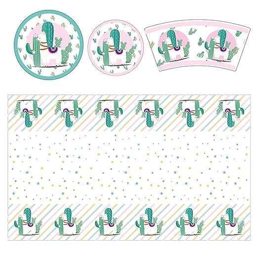 Amosfun 49 piezas de alpaca hierba barro caballo cumpleaños ...