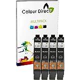 4 Noir ( 1281 ) haute capacité Colour Direct Compatible Cartouches d'encre Remplacement Pour Epson Stylus S22 SX125 SX130 SX230 SX235W SX420W SX425W SX430W SX435W SX438W SX440W SX445W SX445WE Epson Stylus Office BX305F BX305FW imprimeur.