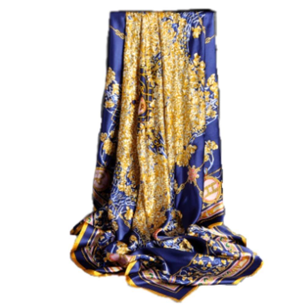 New Wave Style SILKENWAVE: Ladies Luxury Large Square Silk Scarf (100%) Fashion Pashmina Hijab Hair Headband